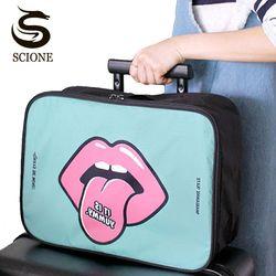 Impermeable multifunción mujeres organizador del bolso del viaje del equipaje bolsa de viaje grande m/L 2 plegable tamaño Bolsas viaje bolsa