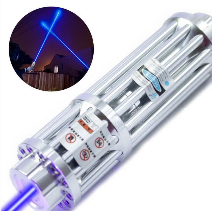 hot High Power Blue Laser Pointers Flashlight Combustion 10000m laser pen lazer blue+box+5 star caps+charger+Box