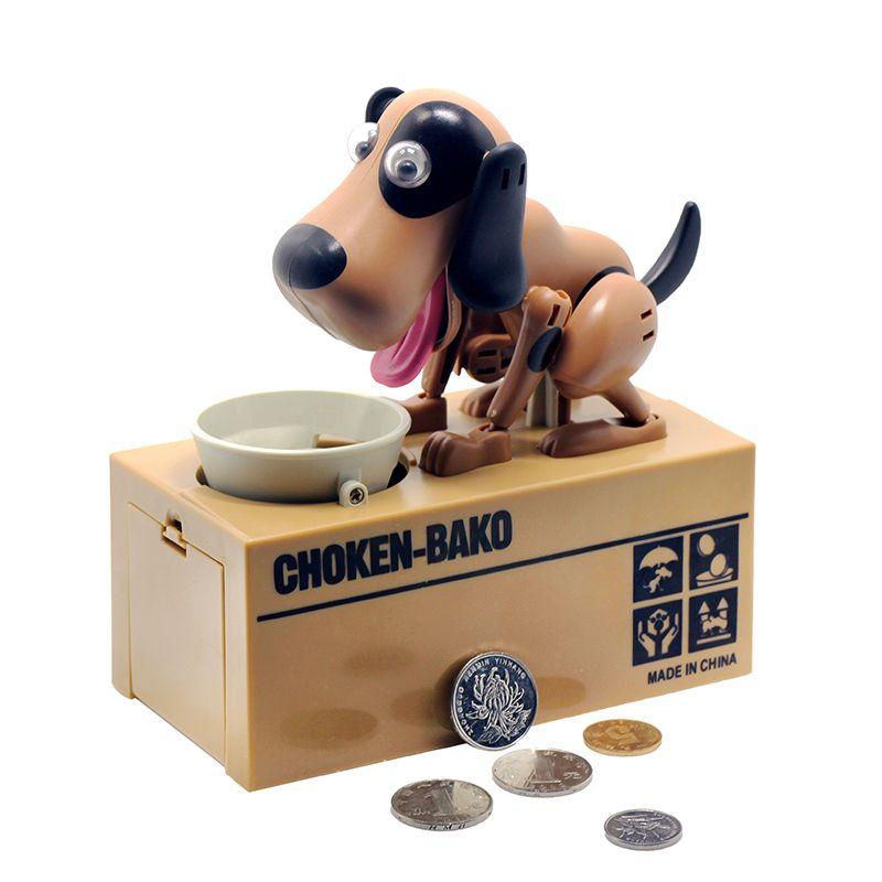 1 Pièce Robotique Chien Banco Canino Tirelire Money Bank Automatique volé Coin Piggy Bank Money Saving Boîte Tirelire Cadeaux pour enfant