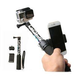 Self Selfie Stick Handheld Extendable Pole Monopod Tripod Phone Holder Adapter for Go Pro HERO 6 5 4 3+ Xiaomi YI 4K SJCAM