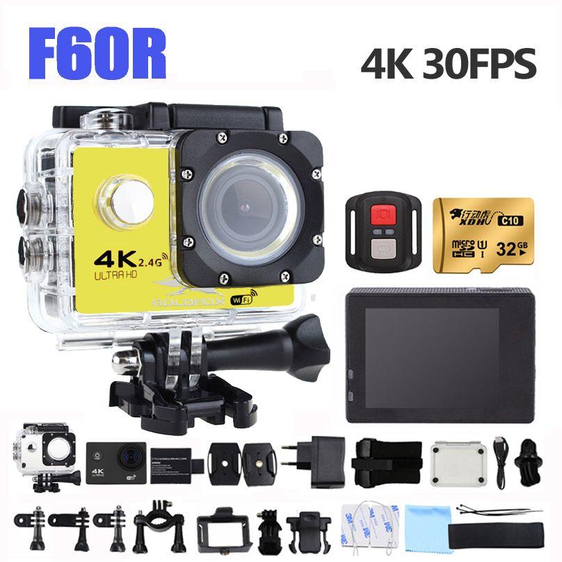 170D Large Angle F60R 4 k D'action Caméra wifi Mini Caméra Enregistreur 1080 p 60FPS Vélo Casque Vidéo Caméra go étanche pro sport DV