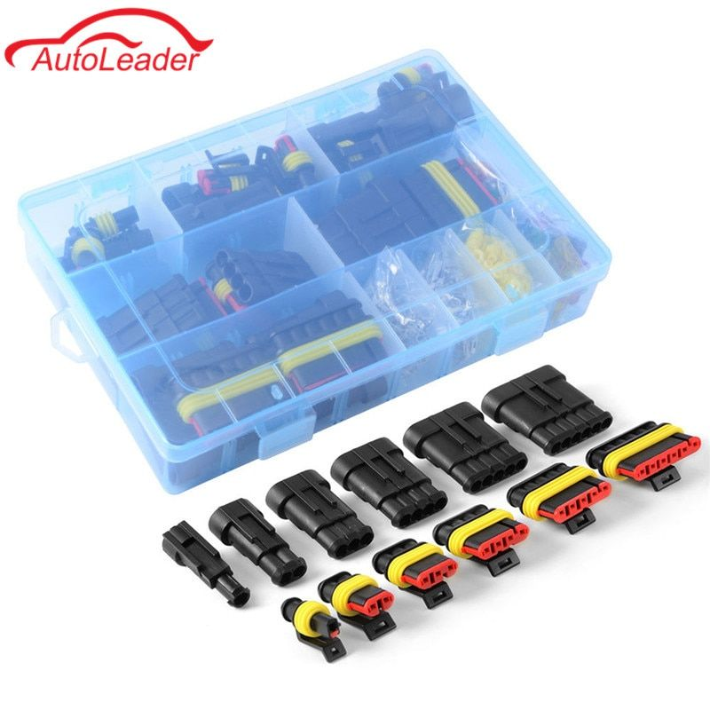 1 Set AMP Kit 1/2/3/4/5/6 Pin Female Male Waterproof Car Electrical Wire Cable Automotive Connector Car Plug Terminal