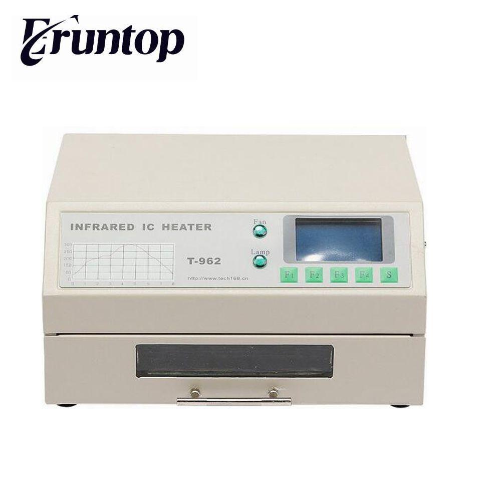 PUHUI T-962 Infrared IC Heater T962 Desktop Reflow Solder Oven BGA SMD SMT Rework Station T 962 Reflow Wave Oven