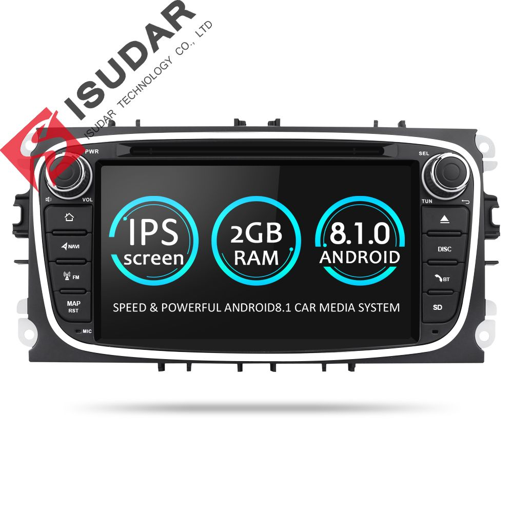Isudar Car Multimedia Player Android 8.1 GPS 2 Din car dvd player for FORD/Focus/S-MAX/Mondeo/C-MAX/Galaxy wifi car radio DSP