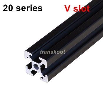 Industrielle Européenne Standard 3D Imprimante Cadre Noir Oxyde Anodisé V Fente Linéaire Rail En Aluminium Extrusion Profil 2020 Série