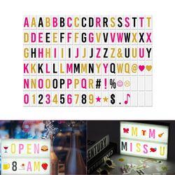 DIY LED cine caja de luz tablero de mensaje pizarra intercambiables letras números símbolos tarjetas de caracteres Combinación libre
