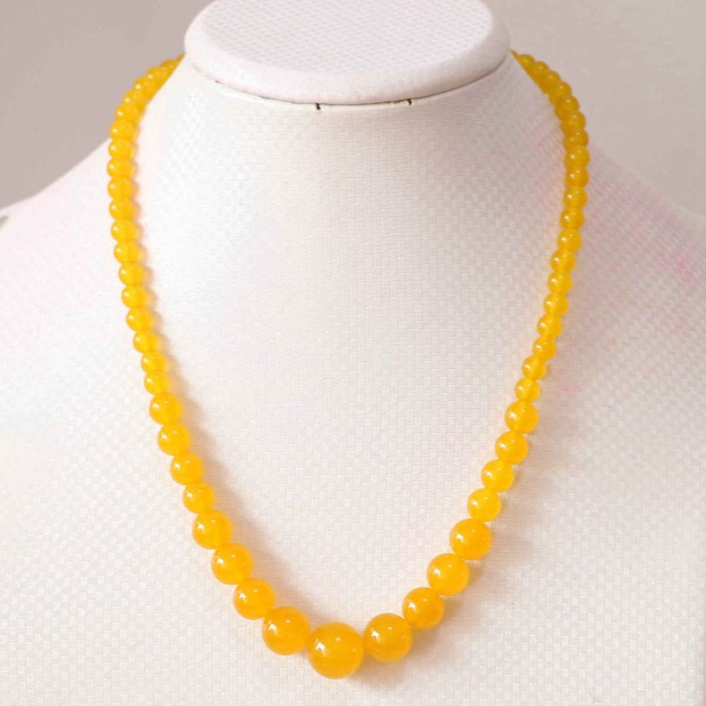 Natural Beautiful Multicolor chalcedony stone 6-14mm round beads jades chain necklace for women elegant chain choker 18inch B624