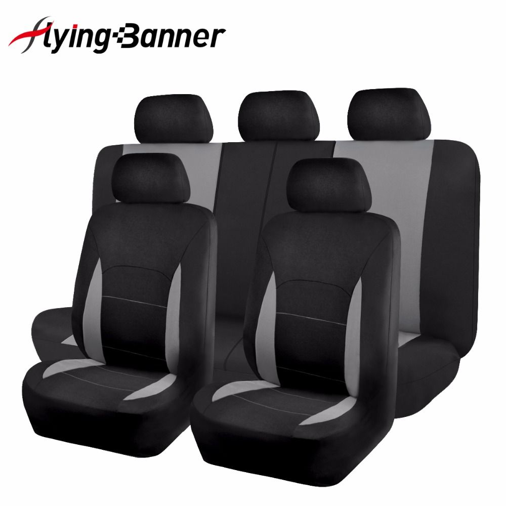 Seat Covers & Supports 11pcs Car Seat Cover Universal Fit Most Vehicles Interior Accessories Grey Seat Cover Car Seat Protector