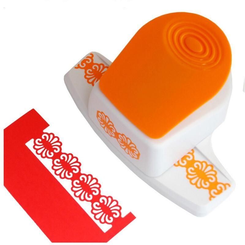 Grande tridimensional de Lujo frontera relieve ponche dispositivo de borde de espuma de BRICOLAJE cortador de papel hecho a mano scrapbooking Artesanía regalo YH10