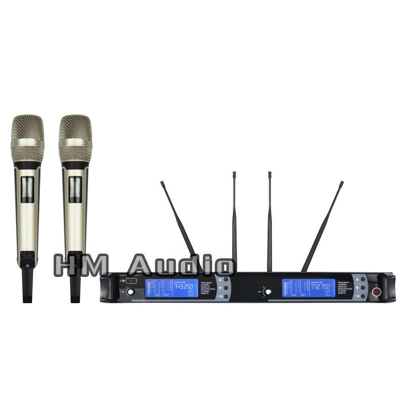 Nouveau haute qualité professionnel SKM9000 vraie diversité Microphone à main sans fil professionnel lavalier clip microphone casque