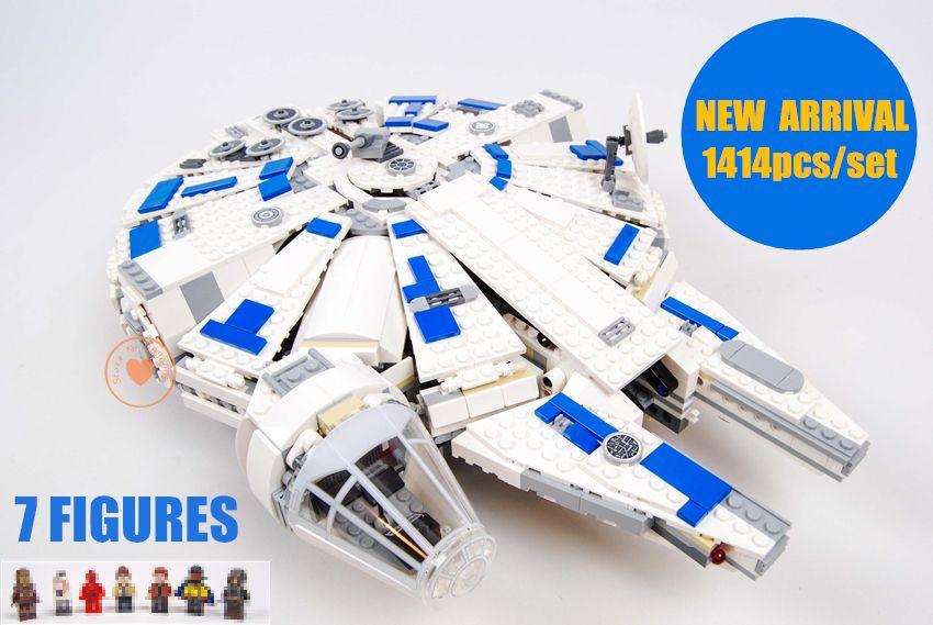 New Star wars set Force Awakens fit legoings Star Wars Millennium Falcon figures 75212 Building Blocks bricks Kids toys boy Gift