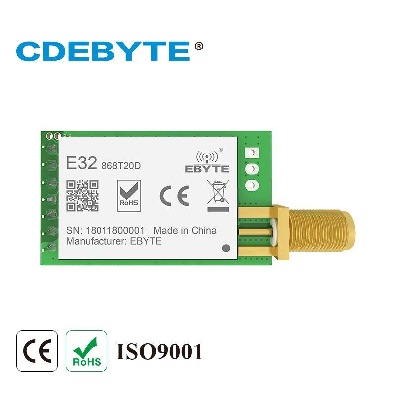 E32-868T20D Lora Longue Portée UART SX1276 868 mhz 100 mw SMA Antenne IoT uhf Sans Fil Émetteur-Récepteur Émetteur Récepteur Module