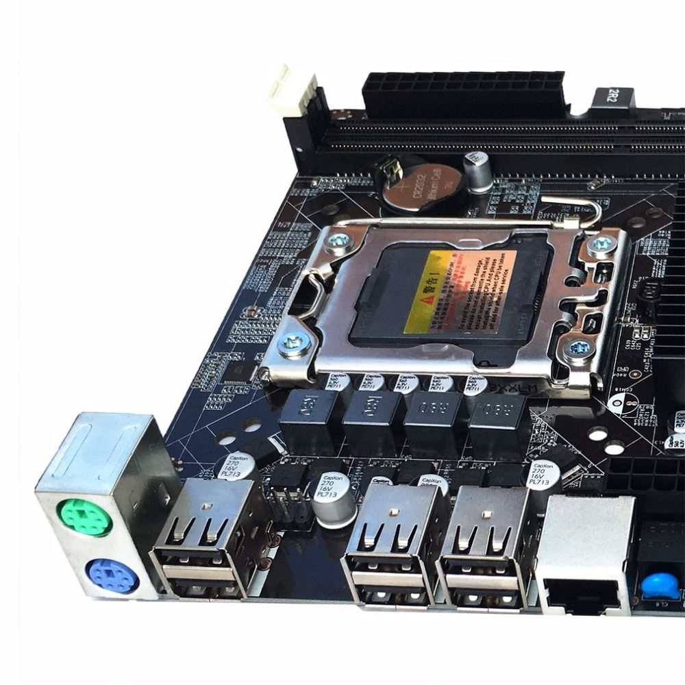X58 Desktop Motherboard Computer Mainboard For LGA 1366 DDR3 16GB Support ECC RAM For Quad-Core Six-Core Needle 8PIN