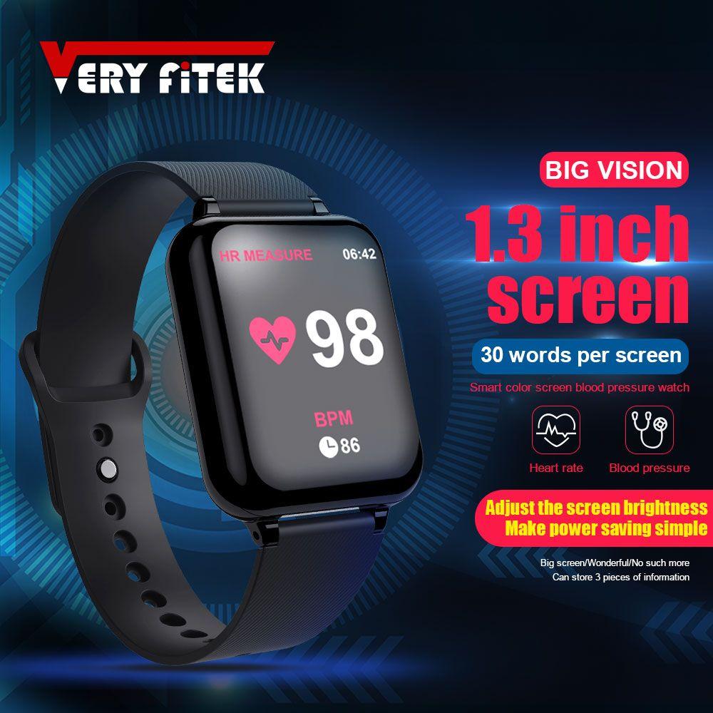 VERYFiTEK AW4 Smart Watch Fitness Bracelet Watch Blood Pressure Oxygen Heart Rate Monitor IP67 Men Women Sport Smartwatch