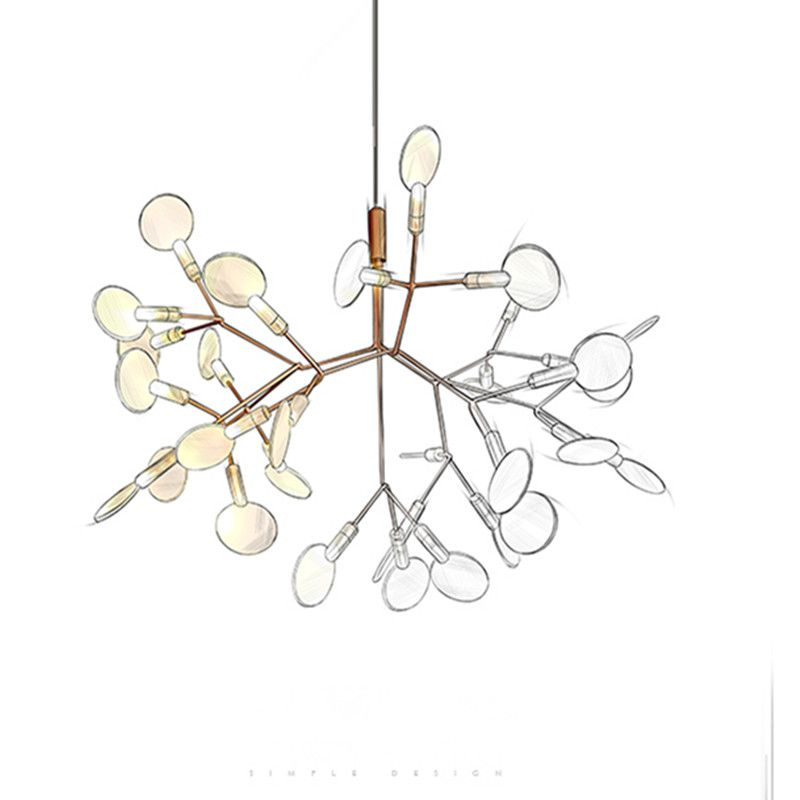 Nordic Art Tree Branch Chandeliers Led Leaves Dining Room Lights Coffee Bar Studio Light Fixtures Free Shipping
