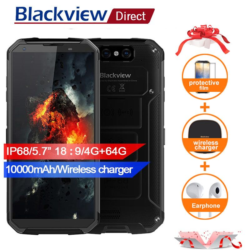 Blackview BV9500 10000mAh IP68 Waterproof 16MP Camera NFC Wireless charger 5.7