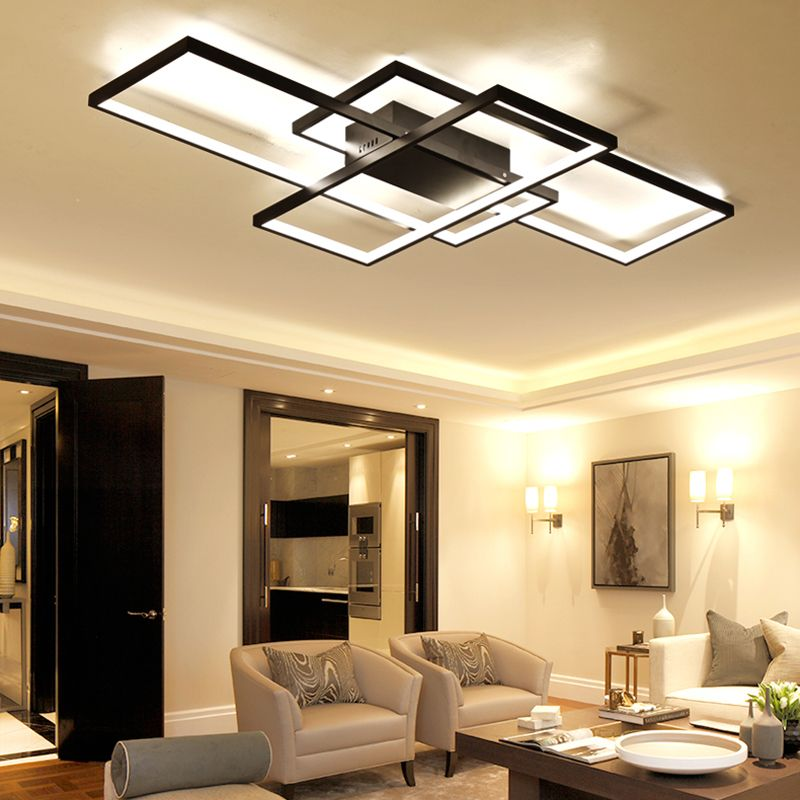 New arrival LED ceiling lamp for bedroom study room with aluminum white black modern LED ceiling lamp