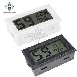 Mini LCD Digital Thermometer Hygrometer Temperature Indoor Convenient Temperature Sensor Humidity Meter Gauge Instruments