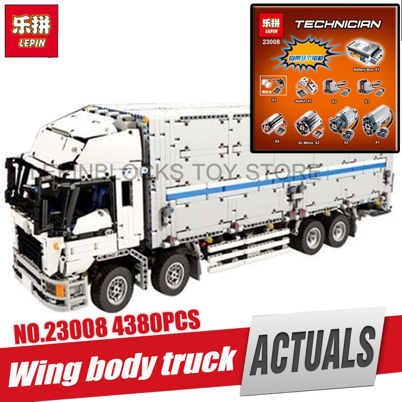 DHL LEPIN 23008 4380pcs technic series MOC truck Model Building blocks Bricks kits Compatible boy brithday gifts legoing 1389