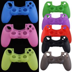 8 Colors Silicone Rubber Case Soft Protective Skin Cover Gamepad Control Sleeve Protector Shell for Sony PS4 Game Controller