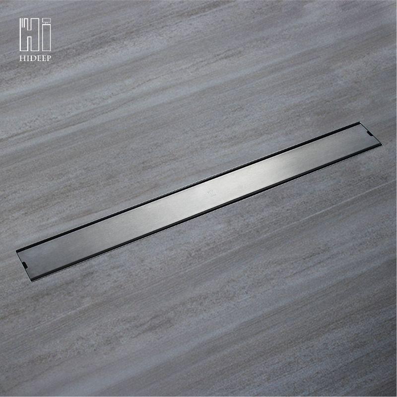 HIDEEP Odor-resistant Floor Drain Cover Rectangle SUS304 Stainless Steel <font><b>Shower</b></font> Floor Grate Drain Linear Floor Drain