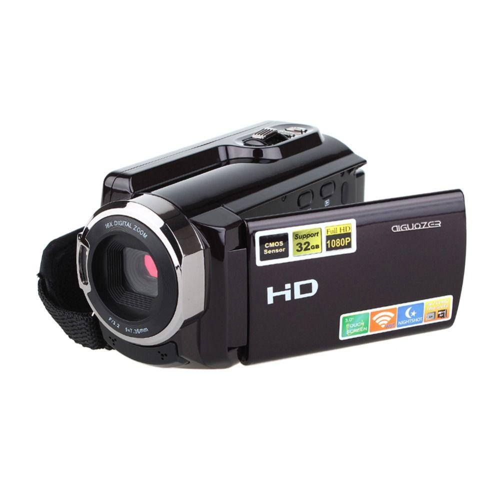 HDV-5053STR Portable Caméscope Full HD 1080 p 16x Zoom Numérique Caméra Vidéo Numérique Enregistreur DVR avec Wifi Max.20MP Tactile Écran