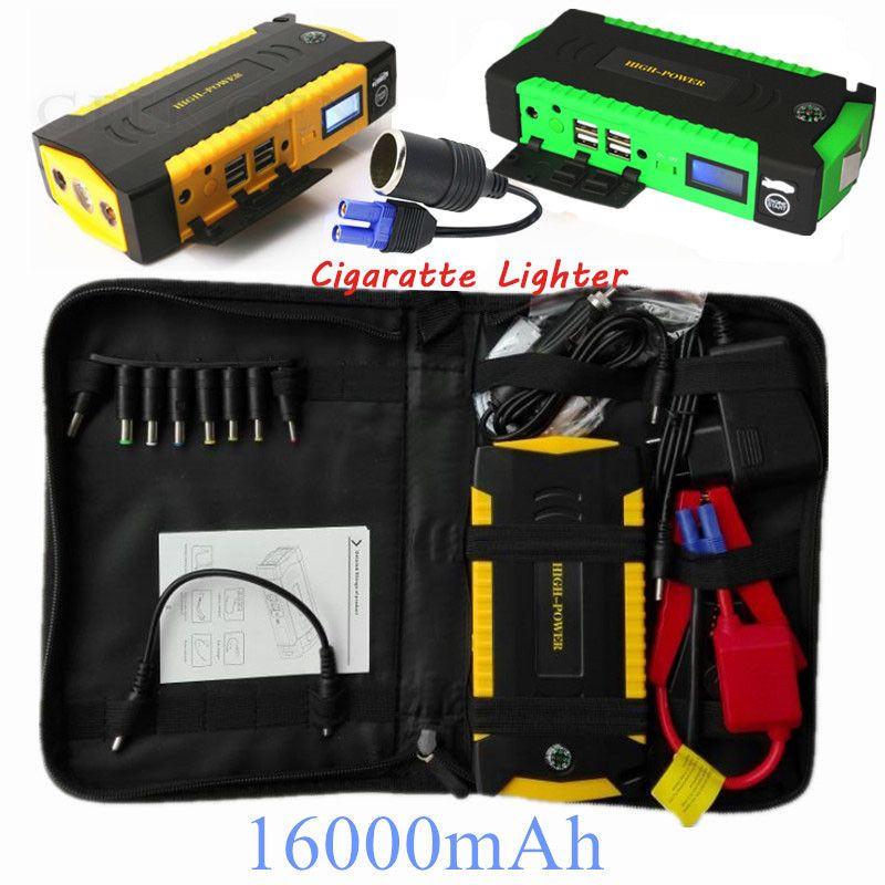 Car Jump Starter 600A Portable Starting Device 16000mAh Power Bank 12V Car Charger For Car Battery Diesel Petrol Booster Buster