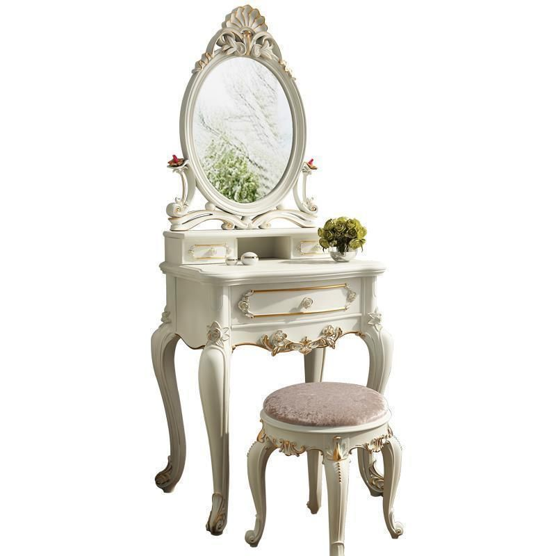 Miroir Mdf Dresuar Toaletka Slaapkamer Mesa Coiffeuse Chambre European Wood Bedroom Furniture Penteadeira Korean Dressing Table