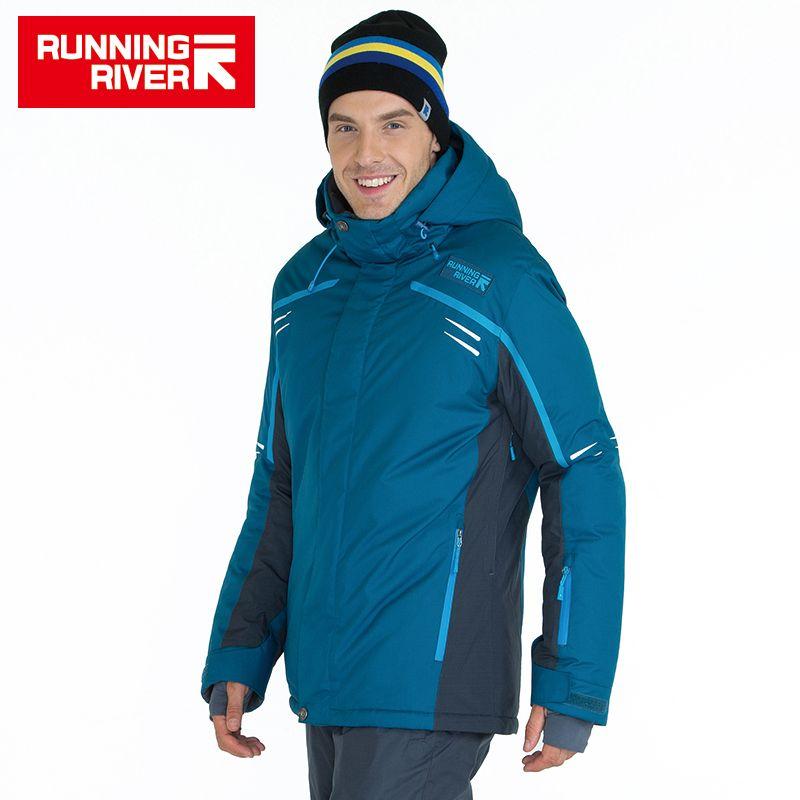 FLUSS Marke Hohe Qualität Männer Ski Jacke 3 Farben 6 Größen Winter Warme Outdoor Jacken Für Mann Sport Kleidung # A6005