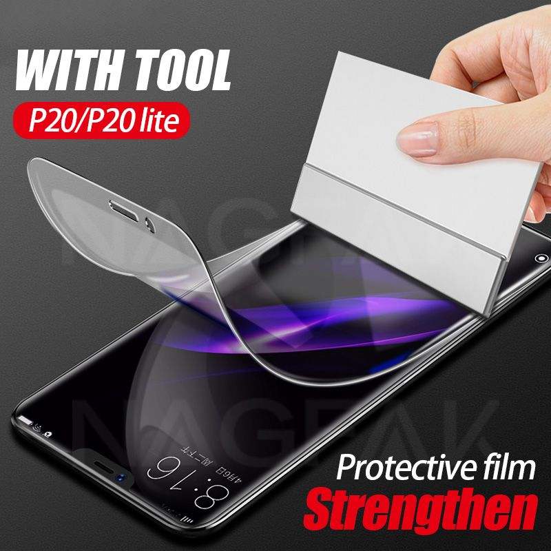 3D Full Protective Soft Hydrogel Film For Huawei P20 Lite P20 Pro Cover Screen Protector Film Honor 9 8 Lite V10 Film Not Glass