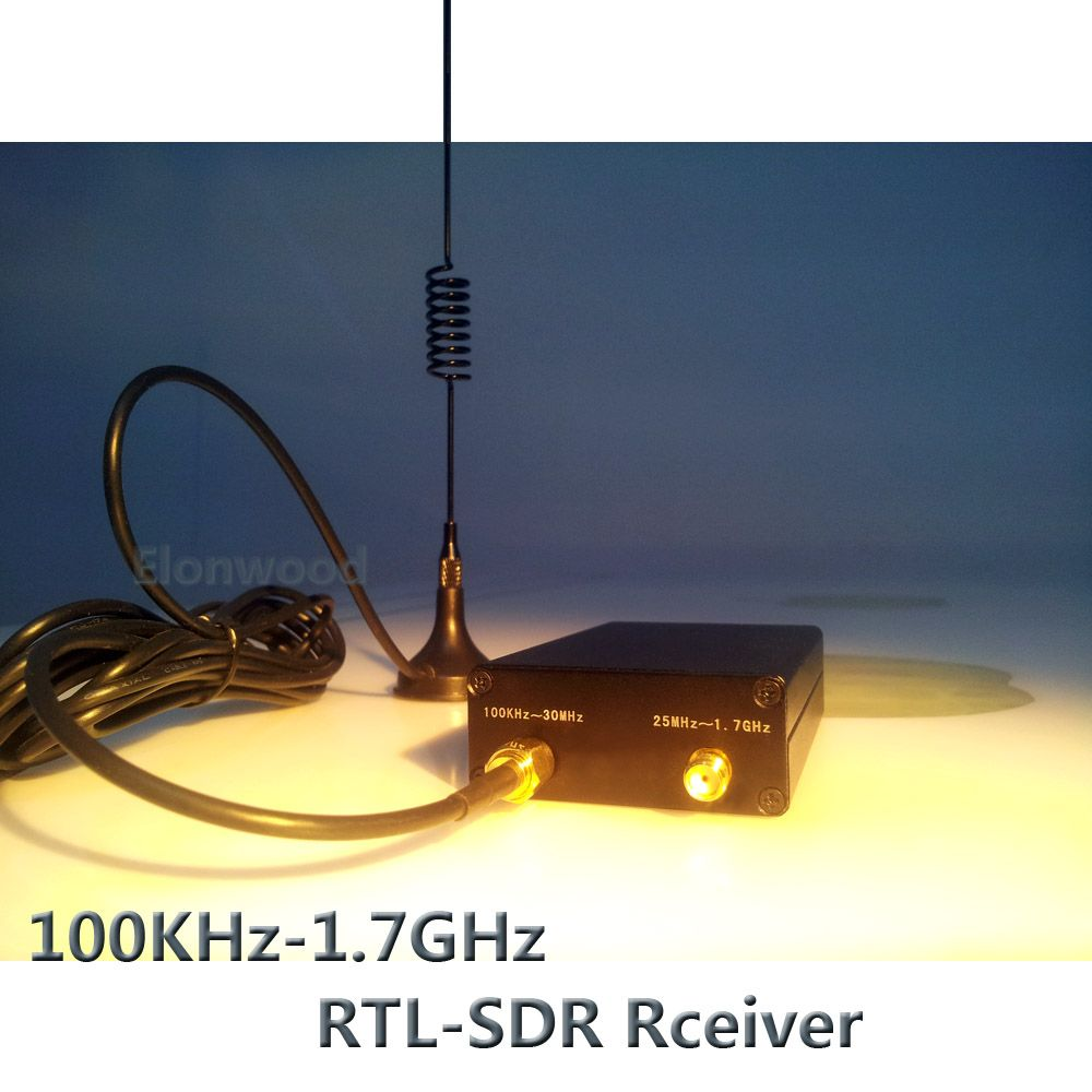 Ham Radio Receiver 100KHz-1.7GHz full Band UV HF RTL-SDR USB Tuner Receiver R820T+8232 Ham Radio Software Defined Radio RTL SDR
