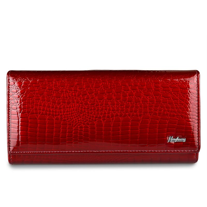 HH Alligator Womens Clutch Wallets Luxury Patent Crocodile Genuine Leather Ladies Clutch Purse Hasp Multifunctional Long Wallet