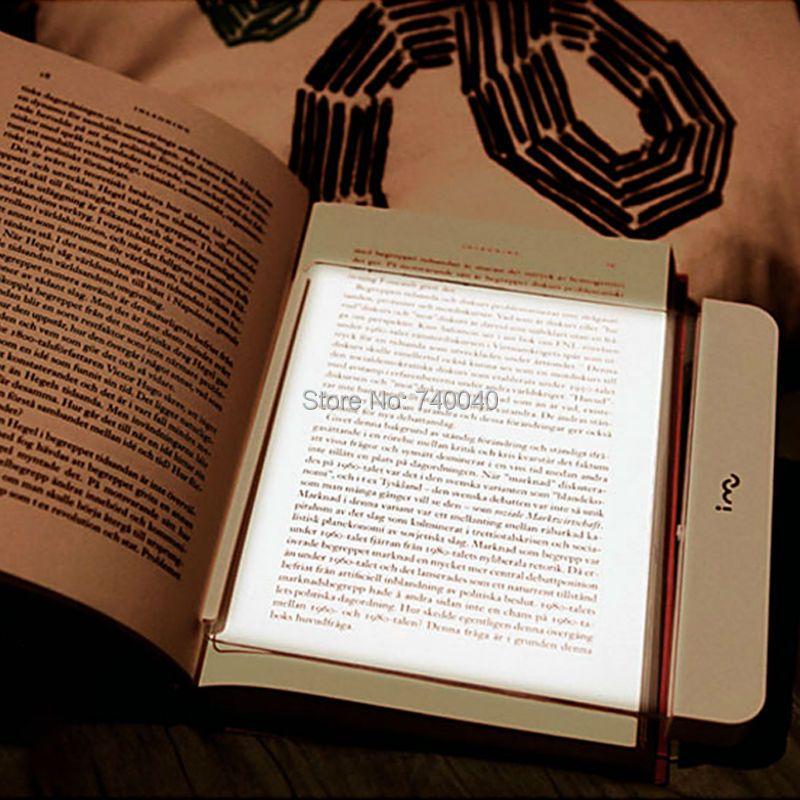 Nueva Portátil LED Panel Luz Marcador Coche Viajes Lámpara de Lectura Paperback Visión Nocturna de Iluminación Regulable Blanco Suave Brillo