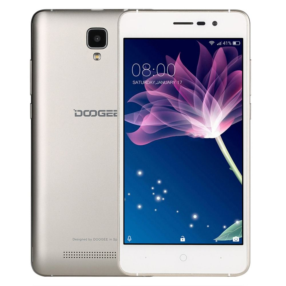 Original Doogee X10 ROM 8GB Smartphone 3360mAh MTK6570 Dual Core 5.0 Inch Android 6.0 Metal Frame RAM 512M GPS 3G Cellphone OTA