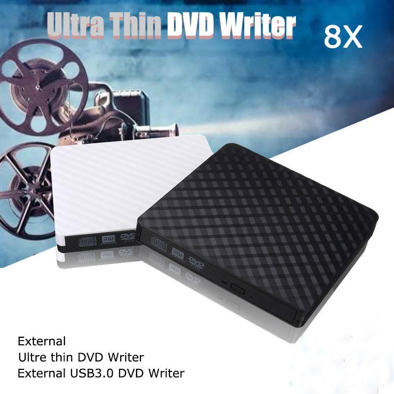 HOT USB 3.0 DVD recorder External Optical Drive DVD Burner Slim Ultra DVD-ROM Player Portable Sucker Driver For Notebook Laptop