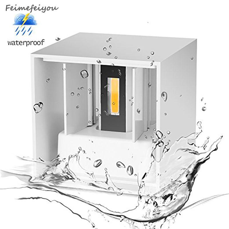 lampada led IP67 indoor outdoor Led Wall Lamp Aluminum Adjustable Surface Mounted Cube Led Garden Porch Light lampara