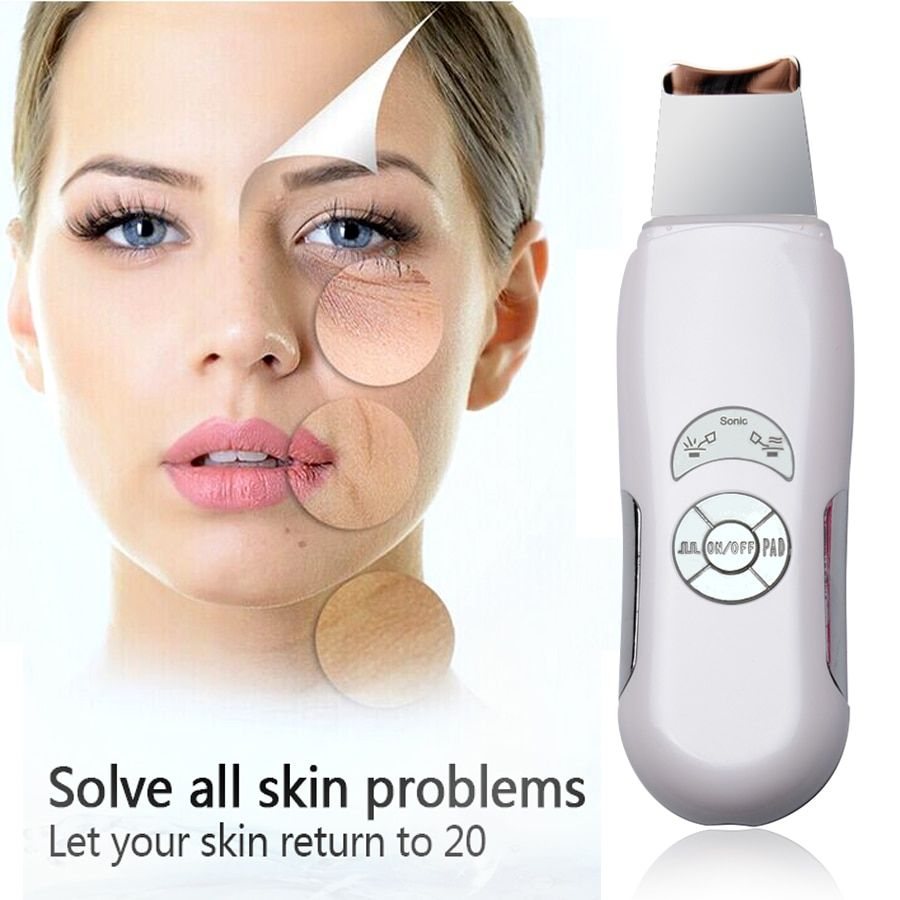 Komwell Deeply ultrasonic face skin cleaner device blackhead removal Device shovel machine face exfoliator deeply clean the skin