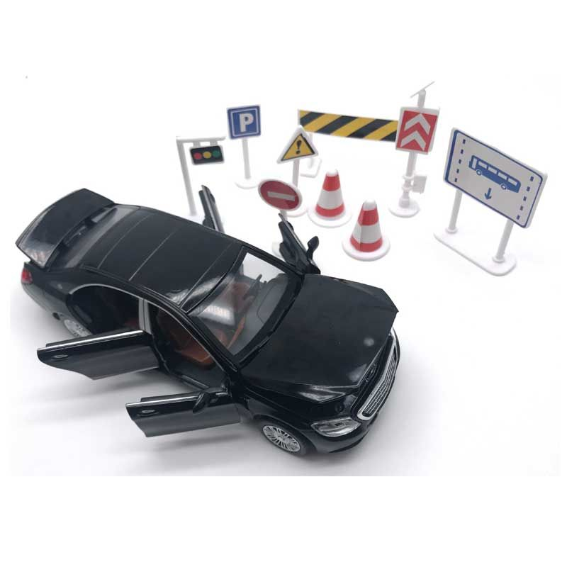 1:32 6 Doors Can be Opened's S600 Simulation Car Model Boys Pull Back <font><b>Matte</b></font> Diecast Metal Vehicles Acousto-optic Alloy Car Toys