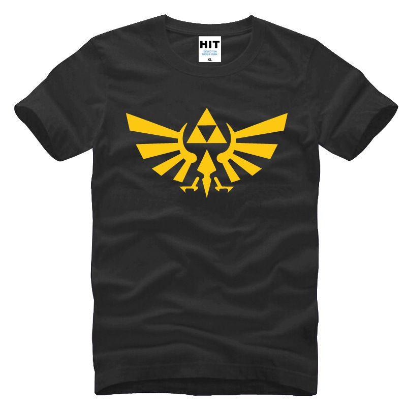La Légende de ZELDA triforce logo jeu Hommes Hommes T-shirt Tshirt Mode 2015 À manches courtes En Coton T-shirt Camisetas hombre