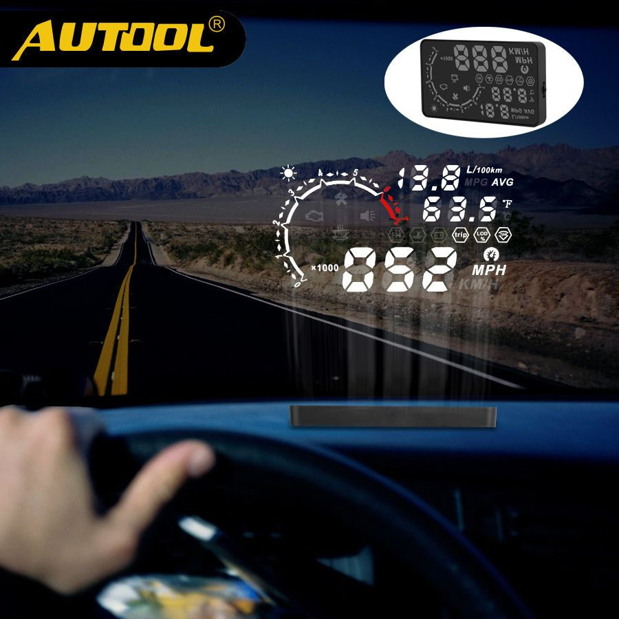 AUTOOL X230 Projector HUD Head Up Display Car Meter OBD2 Film Obd II Gauge Digital Auto Speedometer Projection Diagnosis Tool