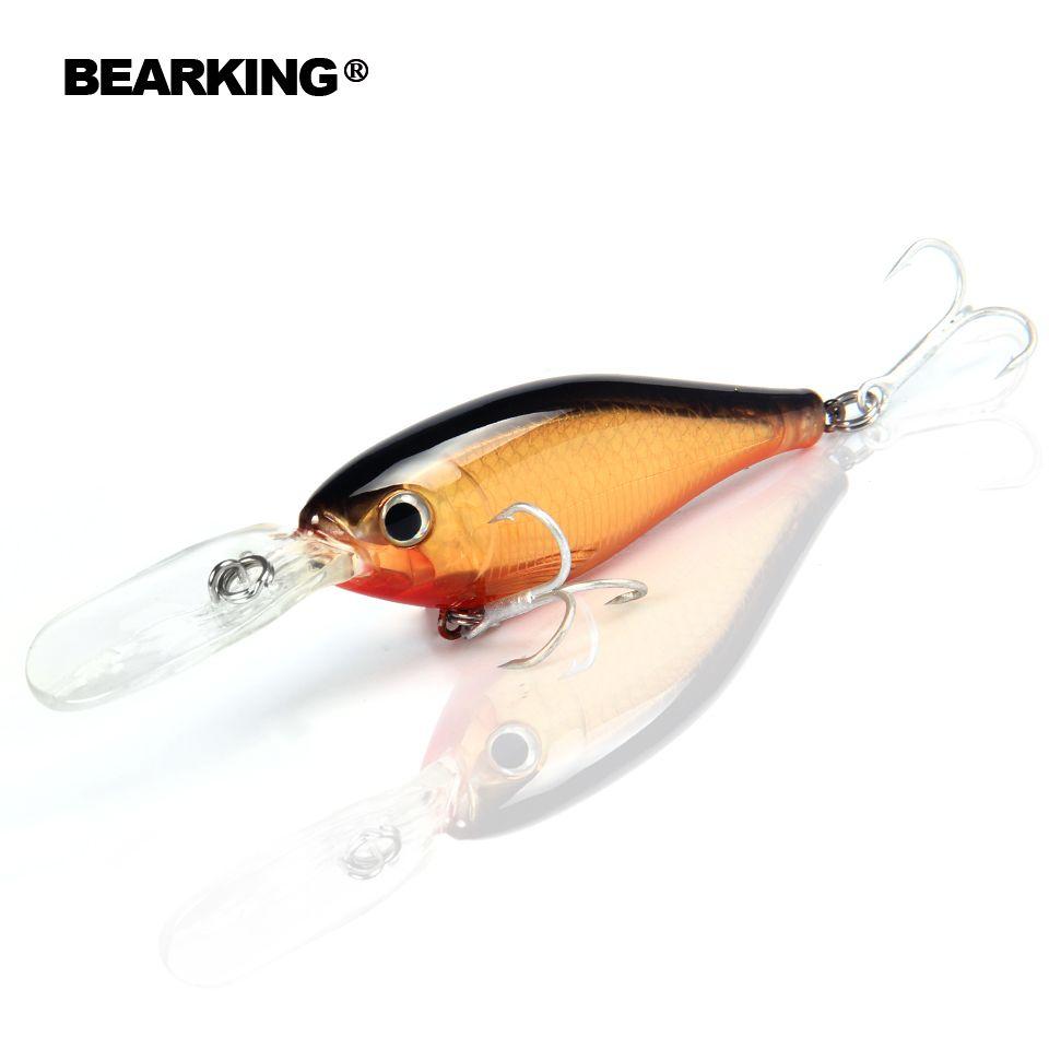 Détail Chaude modèle, 2017 bon A + de pêche leurres minnow, qualité bearking professionnel alose. 8 cm/14g, depth2-4m