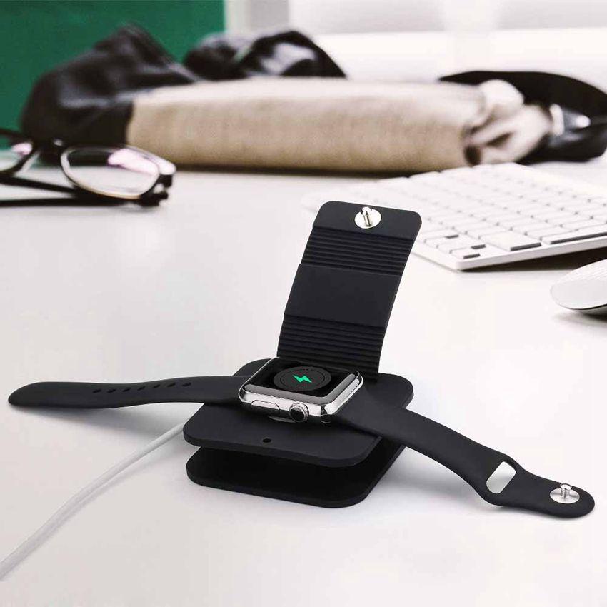 Support de charge Charge Dock Titulaire Portefeuille Costume pour iWatch tous les 38mm/42mm et pour Apple Montre Fait de Tpu/Silicon Matériel