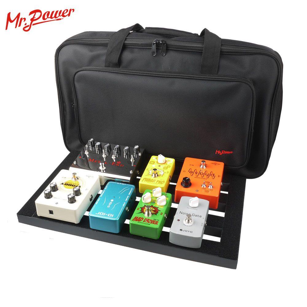 Guitare pédale conseil installation plus grand Style bricolage guitare Pedalboard avec bande magique Instrument de musique accessoire nouveau 200 B
