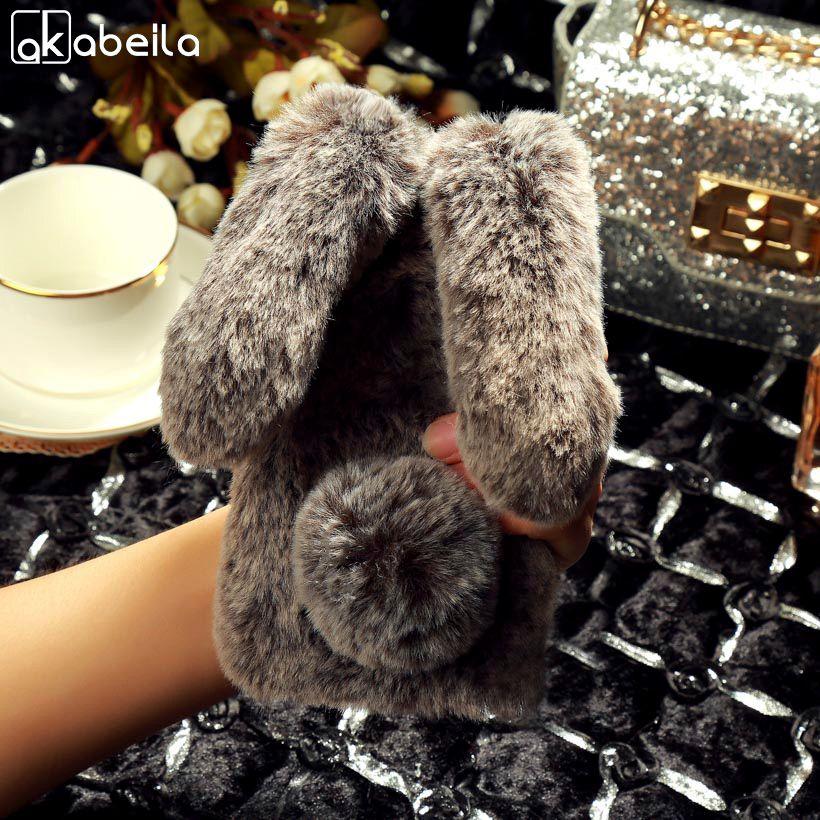 AKABEILA Silicon Cases For Oukitel K10000 Pro Case Rabbit Hair Bling Diamond Anti-knock Covers For Oukitel K10000 pro Cover Back