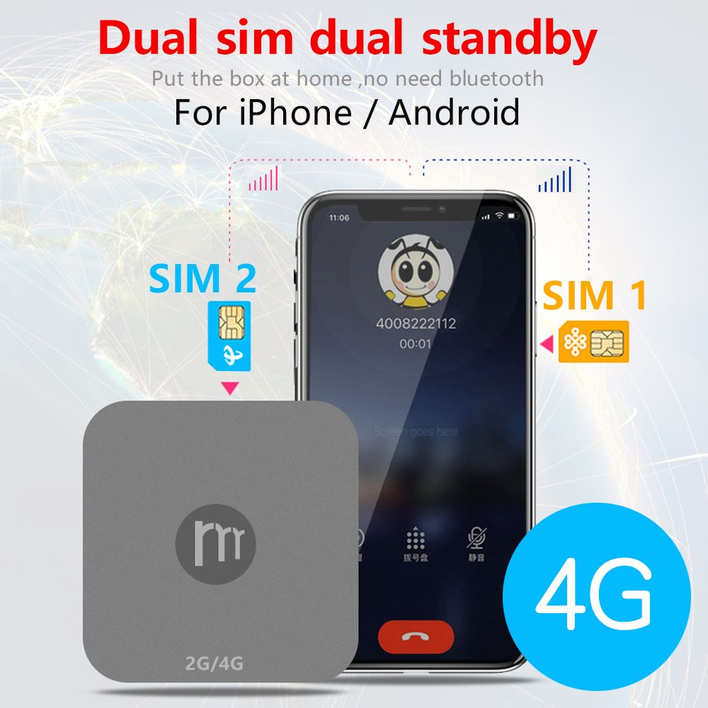 Newest 4G Hot Spots Dual SIM Dual Standby Mini Router for iOS & Android ,No Need Carry ,work with WiFi / Data to Make Call &SMS