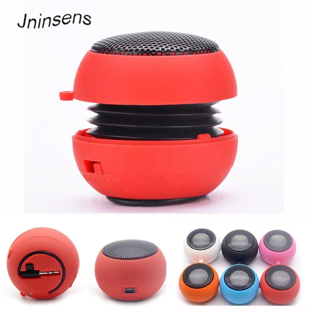 Hamburger Mini Speaker Mp3 Music Loudspeaker Player Outdoor 3.5mm Wired Speaker Sound Box for Computer Phones