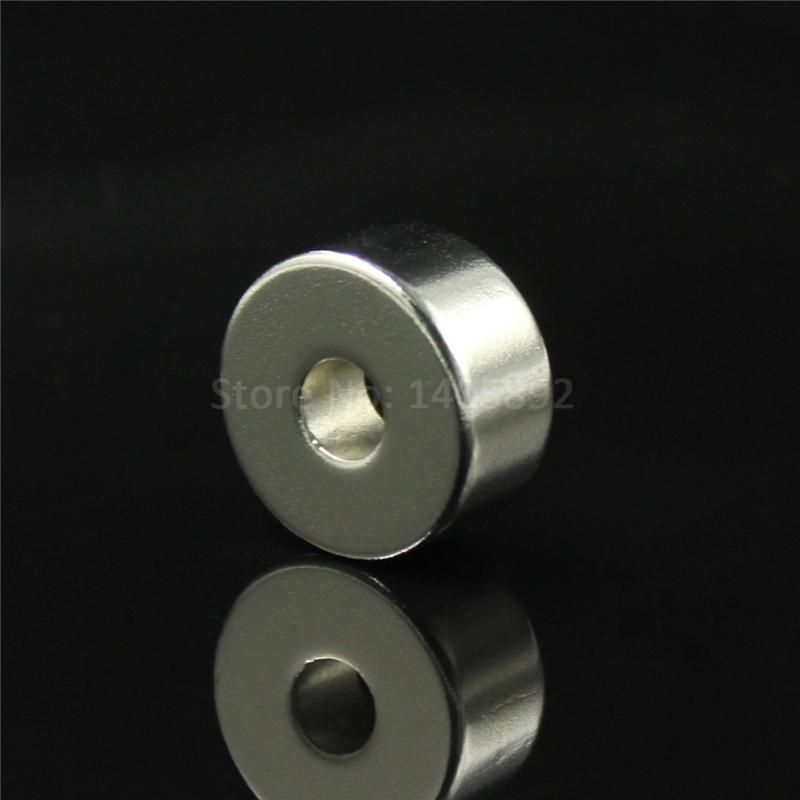 1pcs 40 x 20 mm Hole: 10mm super Strong Round Neodymium Countersunk Ring Magnets Rare Earth N50 Free Shipping