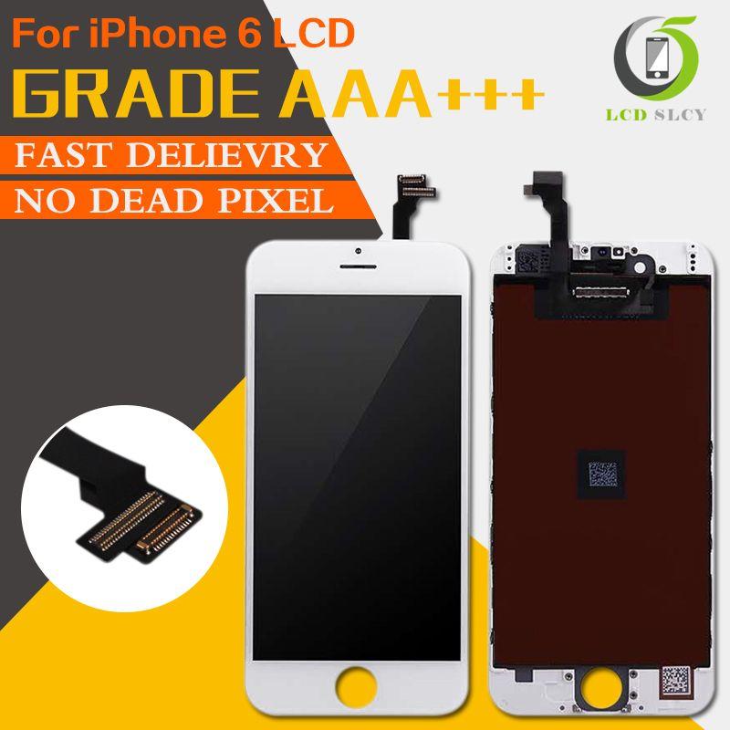 10 PCS/LOT 100% Grade AAA + + + pour iPhone 6 LCD pas de Pixel mort affichage de remplacement écran tactile approvisila numériseur assemblée DHL