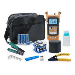 Fibra óptica FTTH Kit de herramientas con FC-6S fibra Cleaver y medidor de energía óptica 5 km Localizador Visual Pelacables glasve Optisch