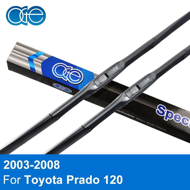 Oge Windshield Wiper Blades For Toyota Prado 120 2003-2008 Pair 22''+21'' Silicone Rubber Windscreen Glass Auto Car Accessories